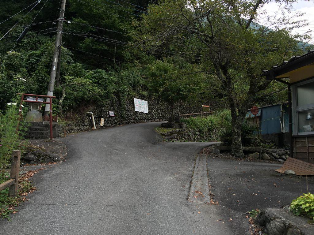 奈良田の里温泉への道順1